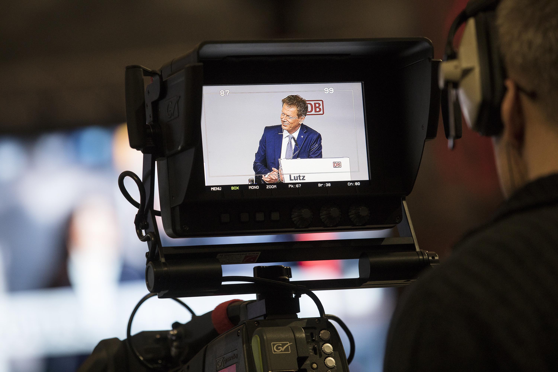 Dr. Richard Lutz, Vorsitzender des Vorstands, auf der Bilanzpressekonferenz