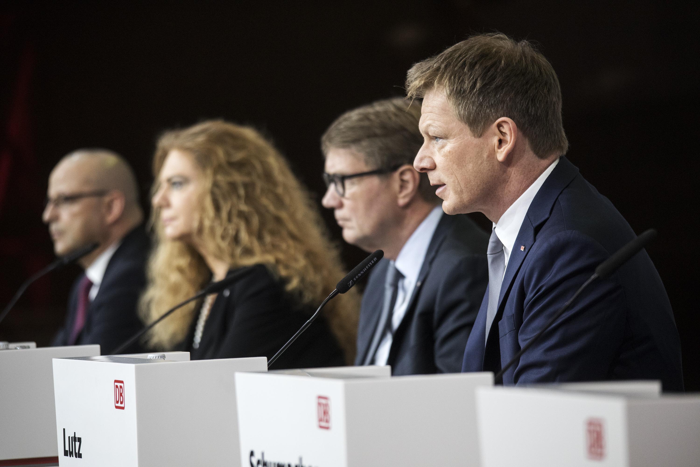 Der Vorstand der DB auf der Bilanzpressekonferenz(Foto: DB AG / Pablo Castagnola)