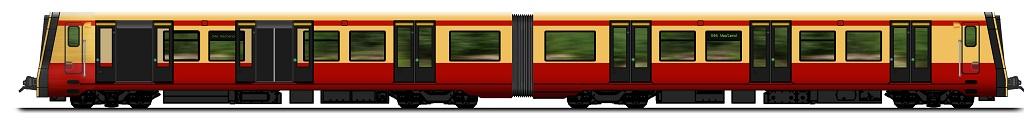 Modell der neuen S-Bahn für Berlin