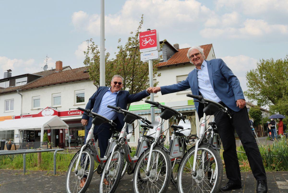 50. Call a bike-Standort am Straubplatz in der Heimstättensiedlung