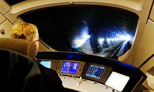 ETCS-geführter ICE-Zug zwischen Erfurt und Halle/Leipzig im Bibratunnel.