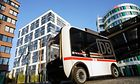 The autonomous bus arouses the interest of spa guests and locals