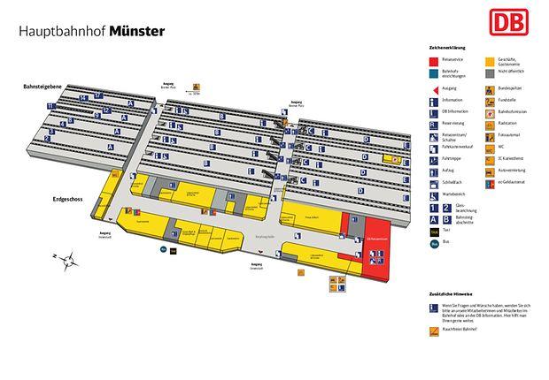 Münster Hbf Lageplan