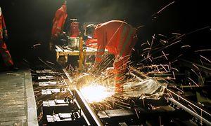 Nächtliche Gleisbauarbeiten
