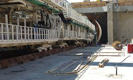 Tunnelvortriebsmaschine Tunnel Rastatt