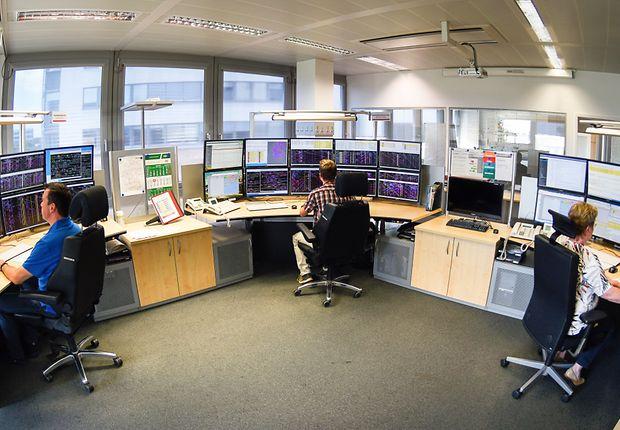 Netzleitzentrale der DB Netz AG in Frankfurt am Main