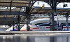 ICE und TGV im Pariser Gare de l'Est am 1. Juni 2017