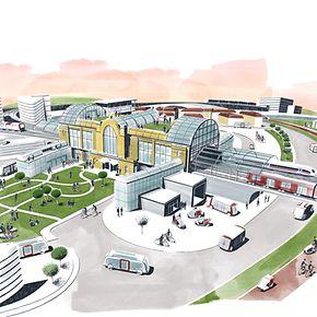 Der Bahnhof als Zentrum der Mobilität der Zukunft