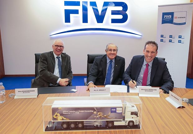 Contract signed with International Volleyball Federation FIVB in Lausanne