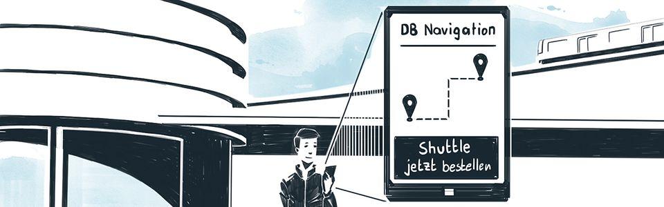 """""""On-Demand-Shuttles"""" können digital gebucht werden."""