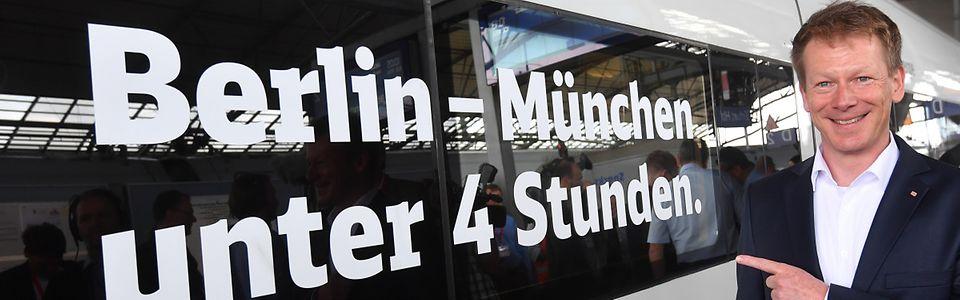 """""""Berlin – München unter vier Stunden. In 177 Tagen!"""""""