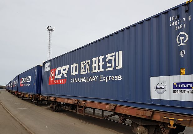 Schienenbrücke zwischen China und Europa