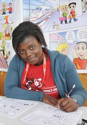 DB-Kids-Camp - Kinder beim Comiczeichnen