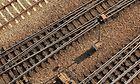 München Hbf - Blick auf Gleise und doppelte Kreuzungsweichen