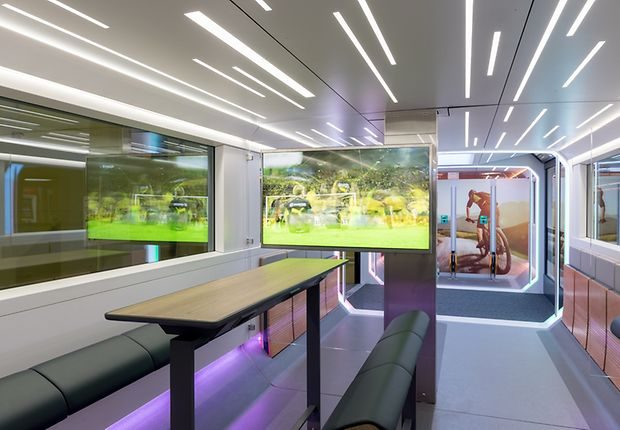 Watch the first World Cup matches live on the train of the future on the CEBIT