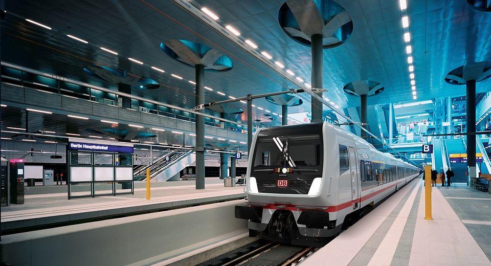"""So soll der neue """"ECx"""" der Deutschen Bahn aussehen (Computeranimation)"""