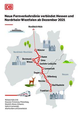 Neue Fernverkehrslinie verbindet Hessen und Nordrhein-Westfalen ab Dezember 2021