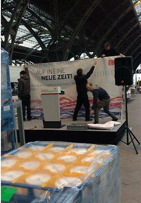Und auch in Leipzig wird noch Hand angelegt