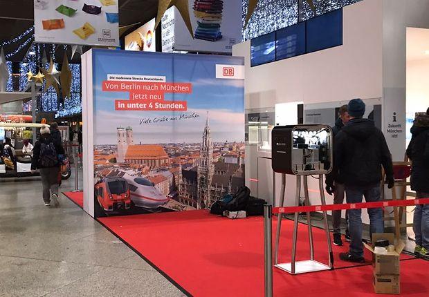 Am Vorabend: Vorbereitungen in München Hauptbahnhof: